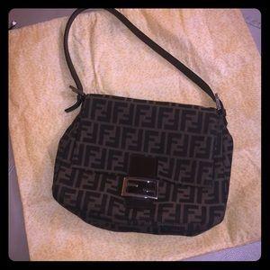 Vintage Fendi Zucca Mamma Monongram Shoulder Bag